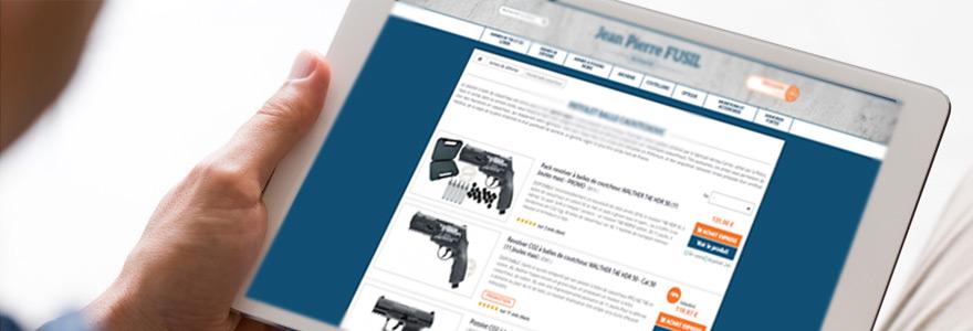 Achat en ligne d'armes a balles en caoutchouc